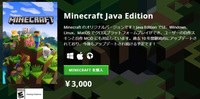 【2020年最新】Minecraft Java版の購入方法・価格を解説